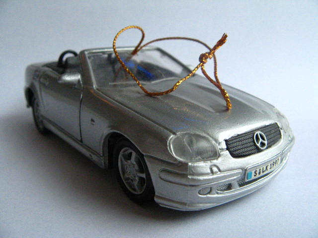02537 for Mercedes benz christmas ornament